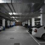 Underground car park.