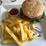 Beef Burger and Fries