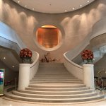 Hotel entrance lobby, staircase to function rooms