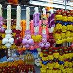 les fleurs naturelles à proximité des temples