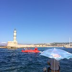 Chania harbour and the submarine!