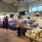 Butchery and Deli counters selling own and local produce.