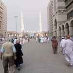 View of Haram from the main entrance of the Hotel