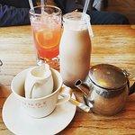 Breakfast drinks ! The chocolate milk was scrummy