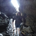 In Merlin's cave below Tintagel castle