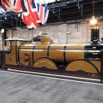 The Gladstone. In the hall where platforms raise the visitor up for a better view