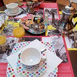 Breakfast table. Actually quite lovely!