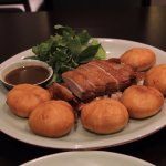 Roasted duck with buns