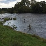 Salmon fishing at Chester's Fort on The North Tyne