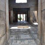 Pompeii mosaic floor still intact