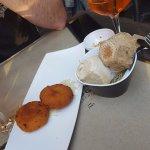 cheese croquettes & aperol spritz