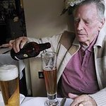 At Bistro 21. My Dad with Golden Sands beer-they were both his!