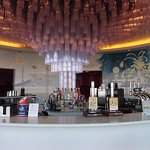 Ravilious Rotunda Bar. I liked the bar and mural but not the music or seating .