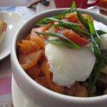 One of breakfast bowl (Smoked salmon)