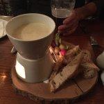 Aged English cheddar fondue