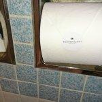 Detalle del papel higienico.