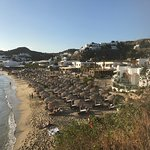 Beautiful beach. It looks from the photos like the sun beds are too close to each other but it d