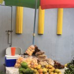 Fresh fruits at the roadside stand