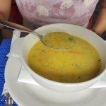 Delicious piping hot quinoa soup