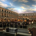 Venetian style food court / shopping area in hotel