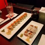 Salmon-Avocado Roll and Lucky Roll