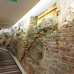 "Lovely old ""feature"" wall within the hotel."