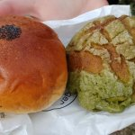 Bean Bread and Macha Melon Bread
