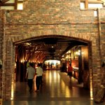 Inside the restaurant, entry to the buffet area
