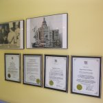 Plaques, proudly displayed, at the Eggcitement Bistro's front entrance wall.