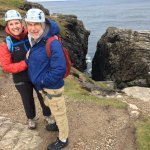 Rock climbing at Malin Head