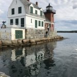 Lighthouse at end of breakwater