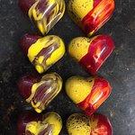 delicious passion fruit ganache  . artsy and divine