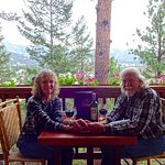 Our 42nd wedding anniversary dinner at the Crags Lodge.
