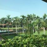 Lush paradise park around the hotel