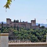 Vista de la Alhambra desde los jardines de la Mezquita