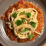 braised lamb sugo with bucatini