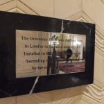 Sign explaining that Grosvenor had first lift in London!