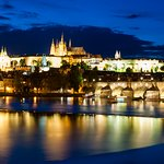 You are a 7 minute walk from this view of Prague castle