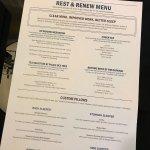 Sleeping and pillow menu!
