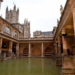 Roman Baths: Photo #1: Main pool with Bath Abbey in left rear