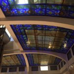 Stained glass roof in the courtyard