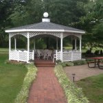 Huge gazebo with comfy seating