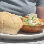 Crab sandwich & salad