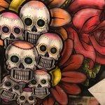 Excellent food!!! & ass kicking skull mural!! 💀☠️💀