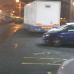 Picture of HGV taking up 10 spaces