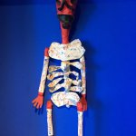 Lots of skeletal art throughout the home.