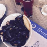 Local IPA and complementary mussels