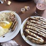 Denny's - Sticky Bun Pancake Breakfast