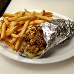 Chicken Gyro with Fries