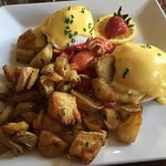 Lobster Benedict with Herbed Potatoes